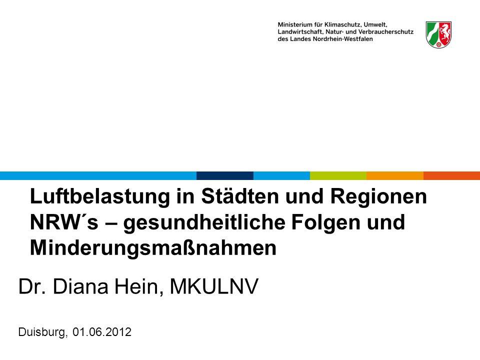 Dr. Diana Hein, MKULNV Duisburg, 01.06.2012
