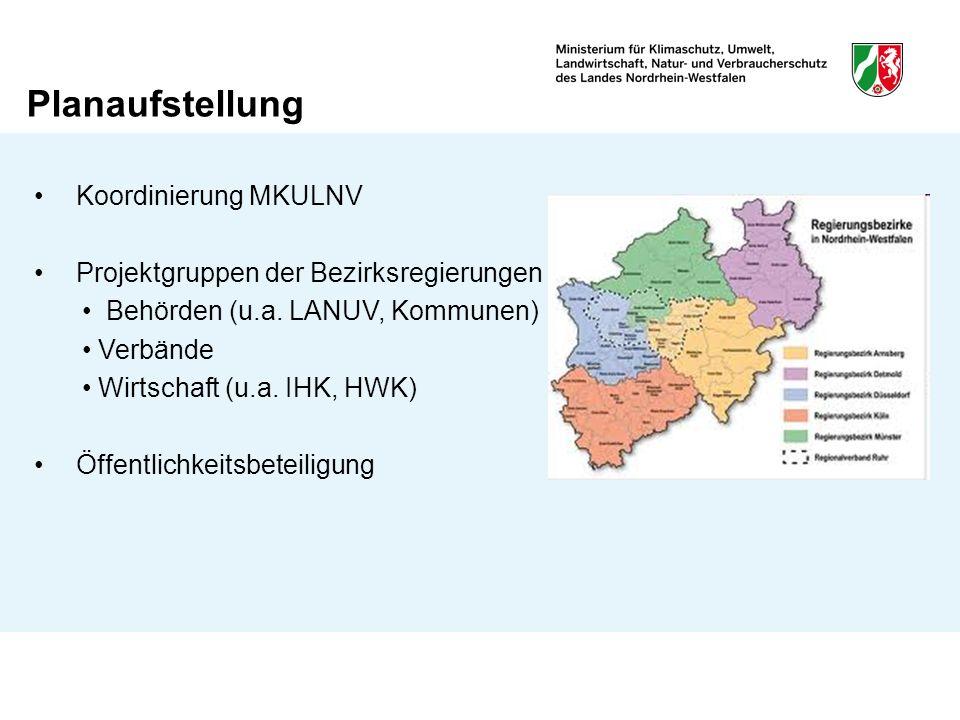 Planaufstellung Koordinierung MKULNV