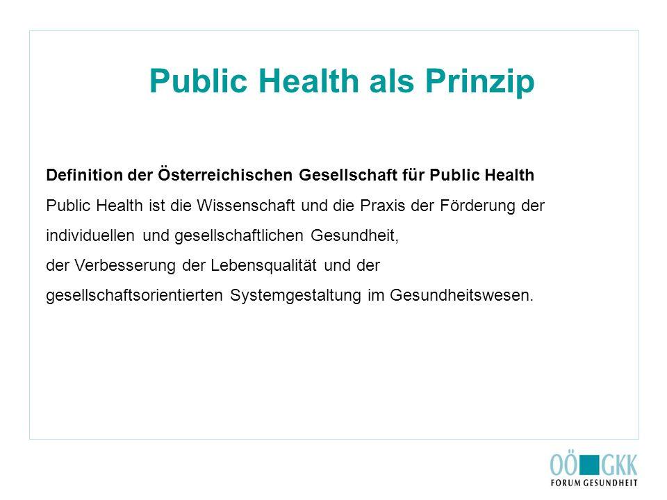 Public Health als Prinzip