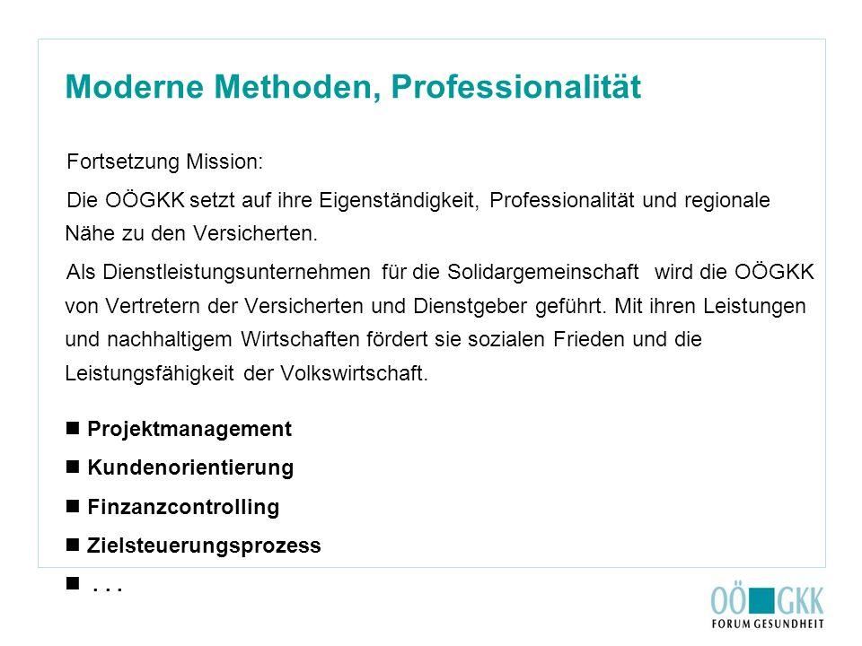 Moderne Methoden, Professionalität