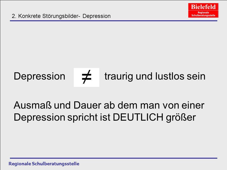 Depression traurig und lustlos sein