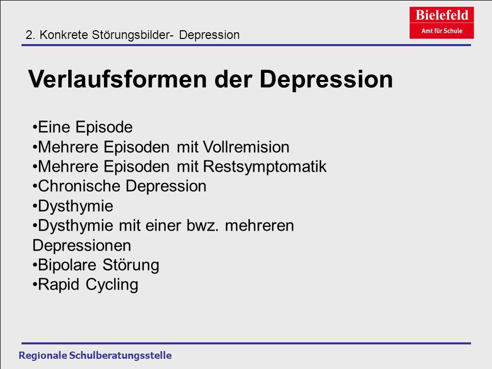 Verlaufsformen der Depression