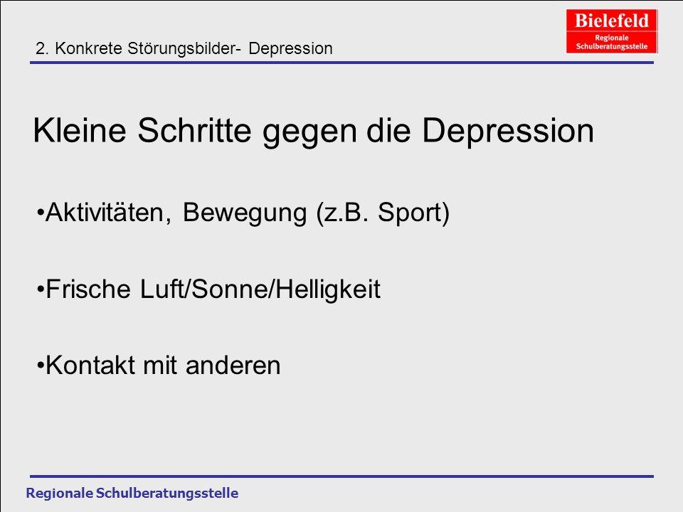 Kleine Schritte gegen die Depression