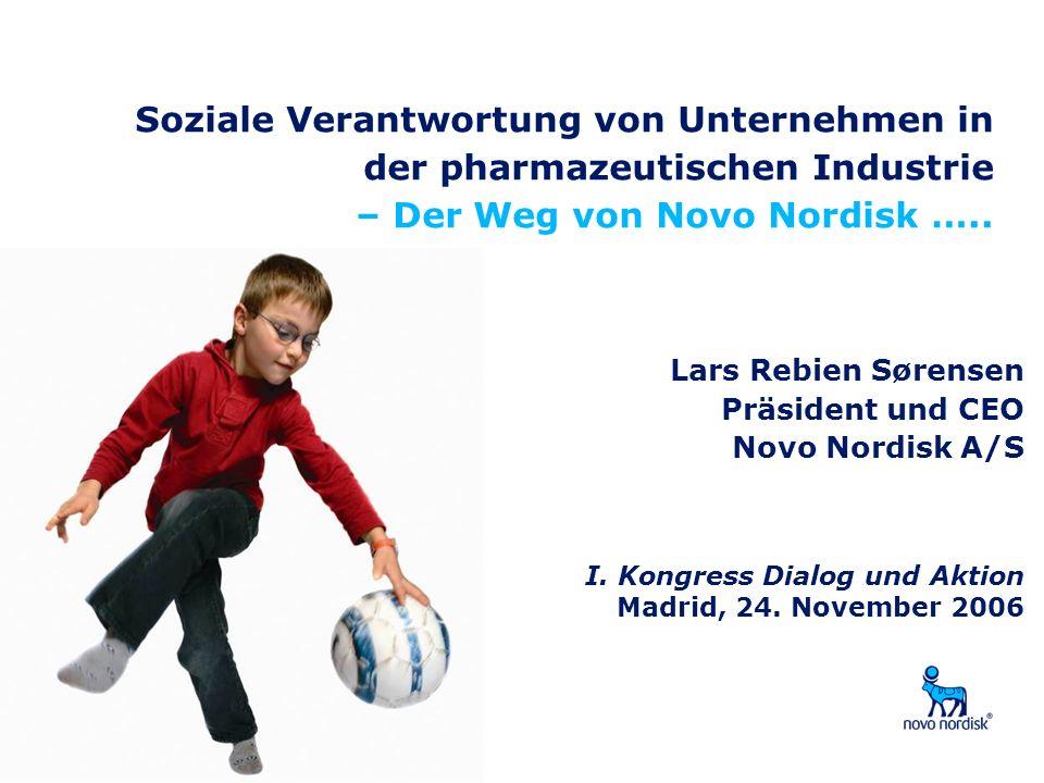 Soziale Verantwortung von Unternehmen in der pharmazeutischen Industrie – Der Weg von Novo Nordisk …..