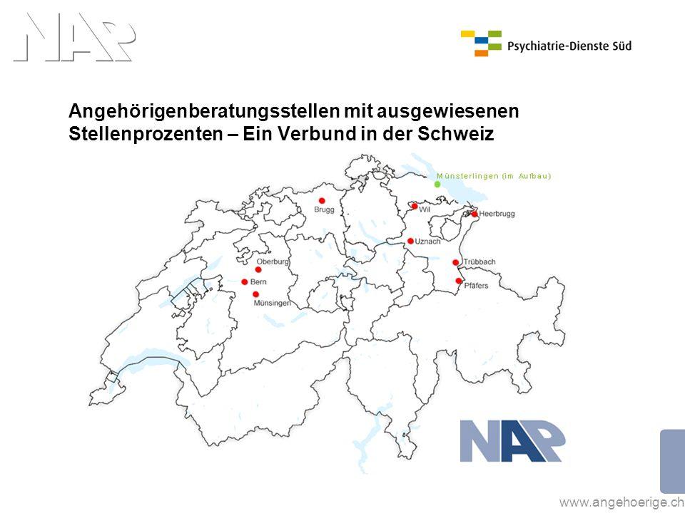 Angehörigenberatungsstellen mit ausgewiesenen Stellenprozenten – Ein Verbund in der Schweiz