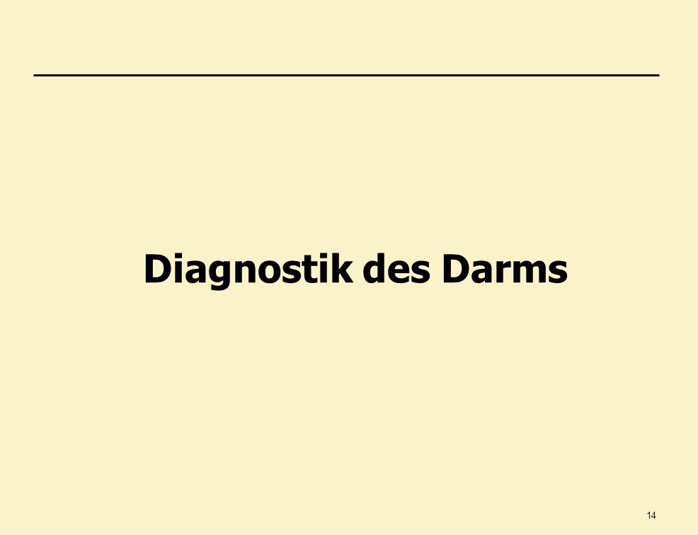 Diagnostik des Darms