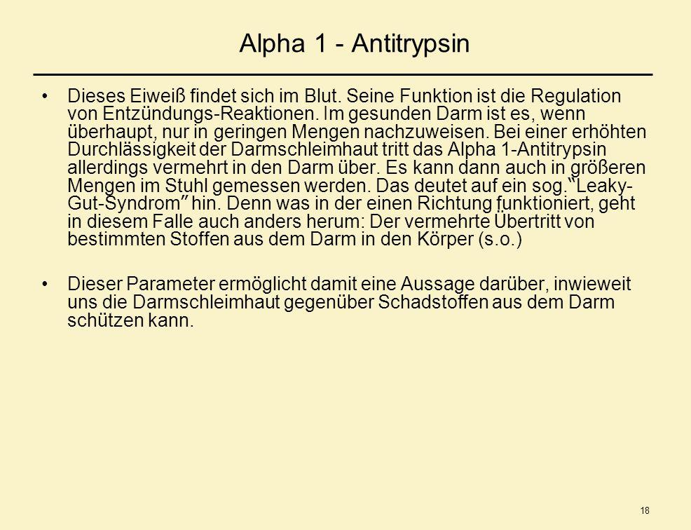 Alpha 1 - Antitrypsin