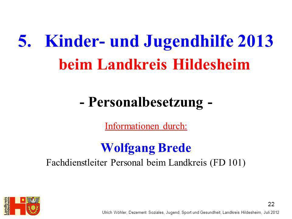5. Kinder- und Jugendhilfe 2013