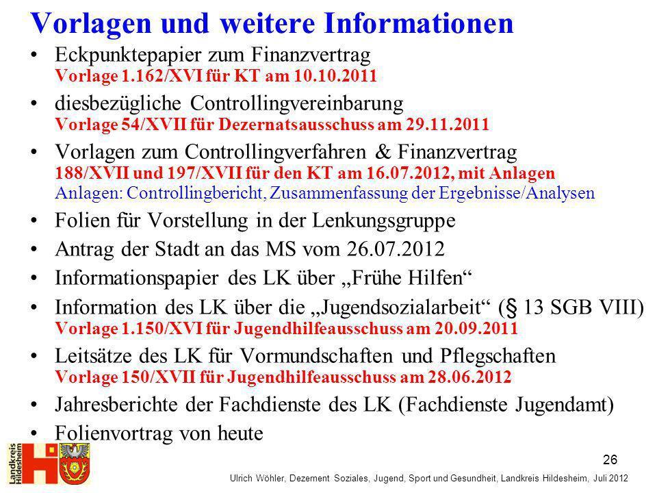 Vorlagen und weitere Informationen