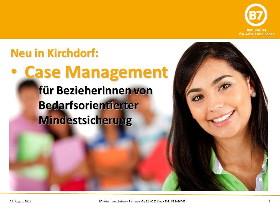 Case Management Neu in Kirchdorf: für BezieherInnen von