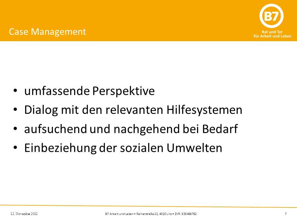 umfassende Perspektive Dialog mit den relevanten Hilfesystemen