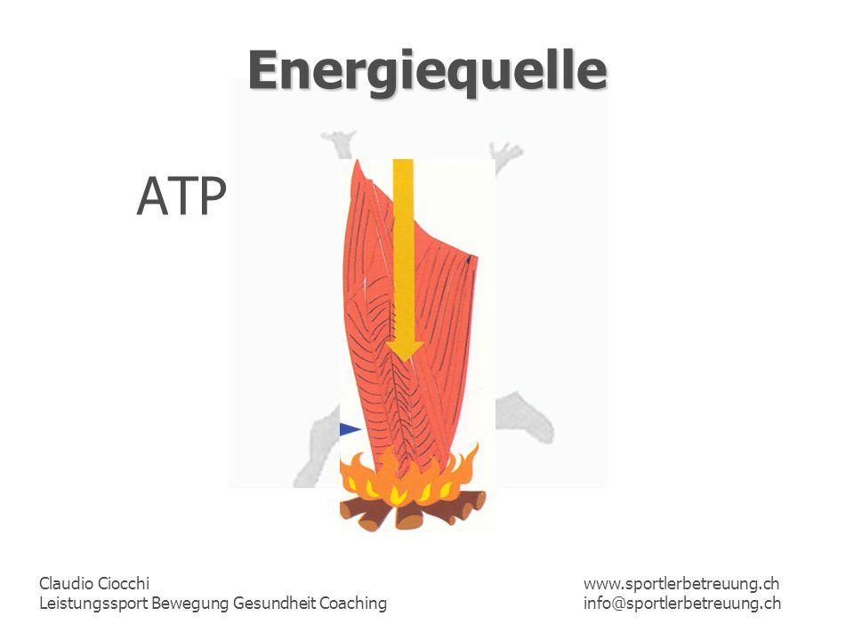 Energiequelle ATP www.sportlerbetreuung.ch info@sportlerbetreuung.ch