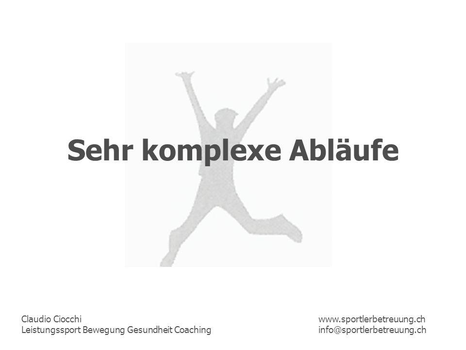 Sehr komplexe Abläufe www.sportlerbetreuung.ch