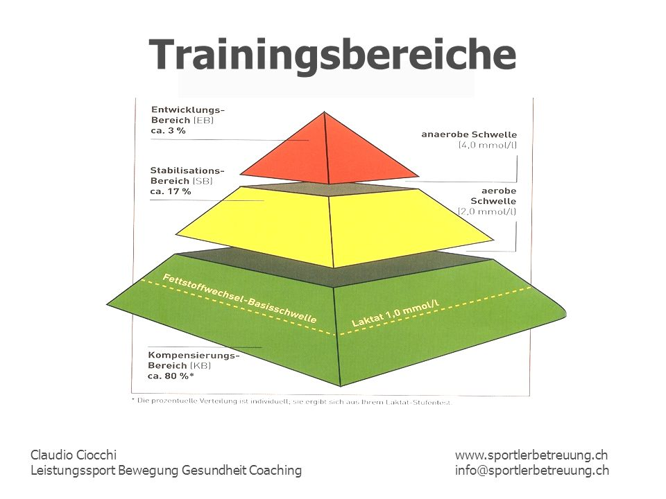 Trainingsbereiche www.sportlerbetreuung.ch info@sportlerbetreuung.ch