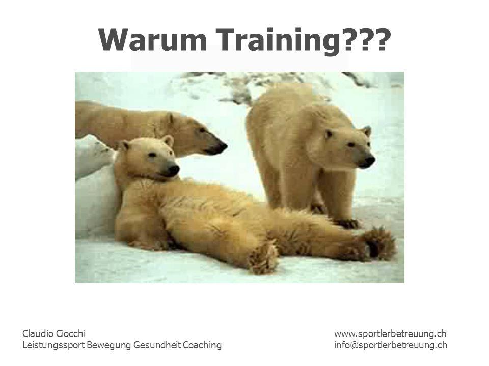 Warum Training www.sportlerbetreuung.ch info@sportlerbetreuung.ch