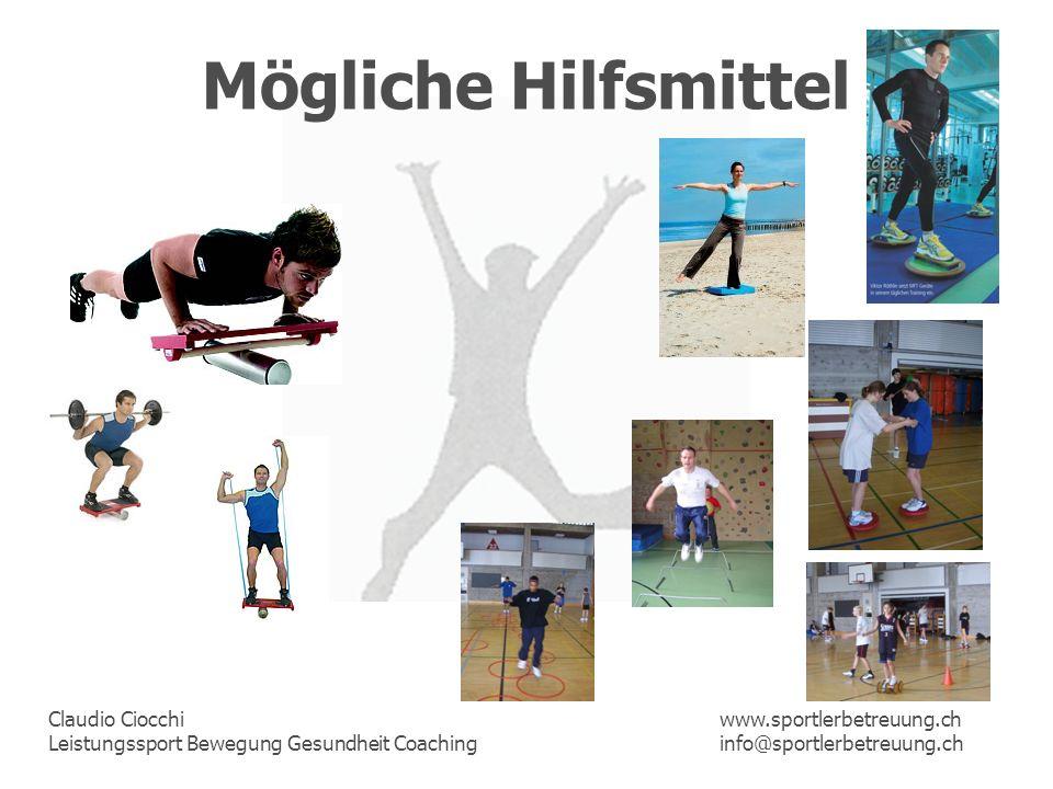 Mögliche Hilfsmittel www.sportlerbetreuung.ch