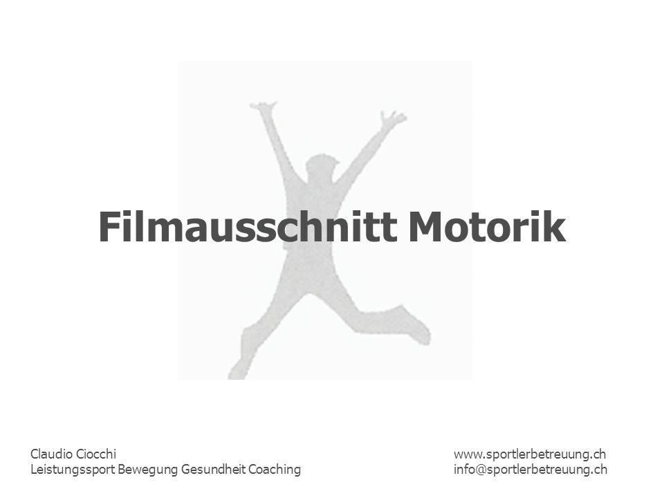 Filmausschnitt Motorik