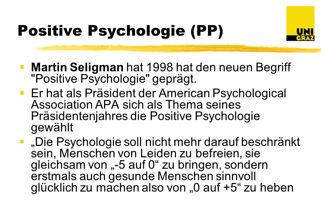Positive Psychologie (PP)