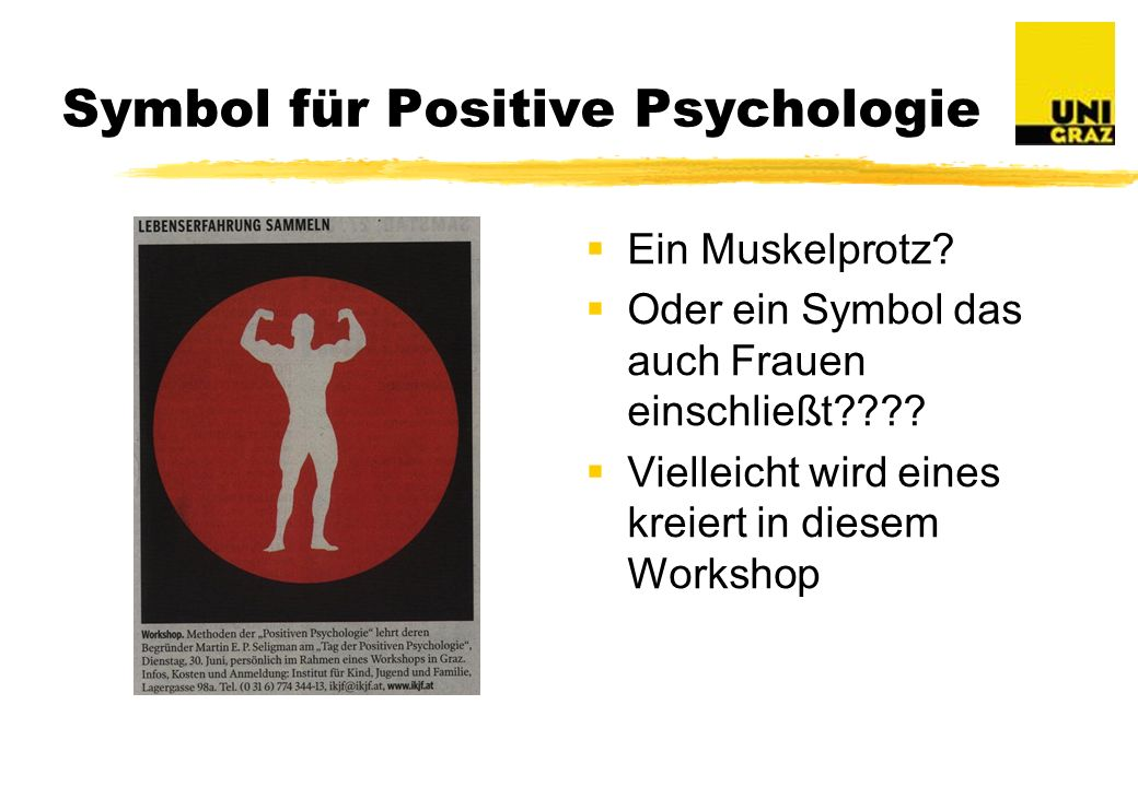 Symbol für Positive Psychologie
