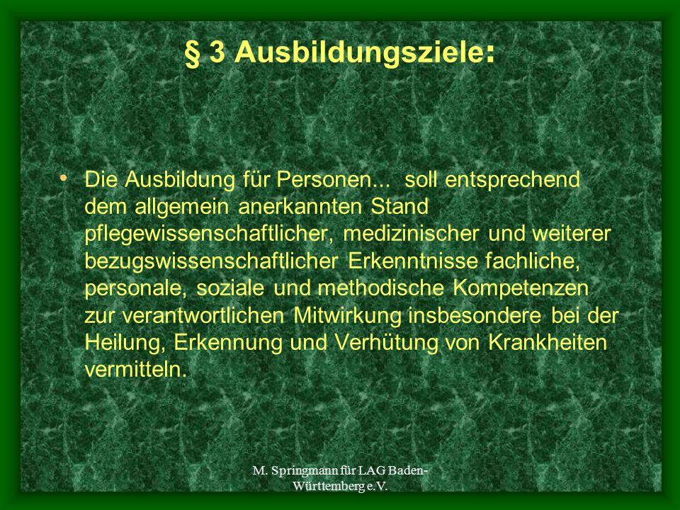 M. Springmann für LAG Baden-Württemberg e.V.