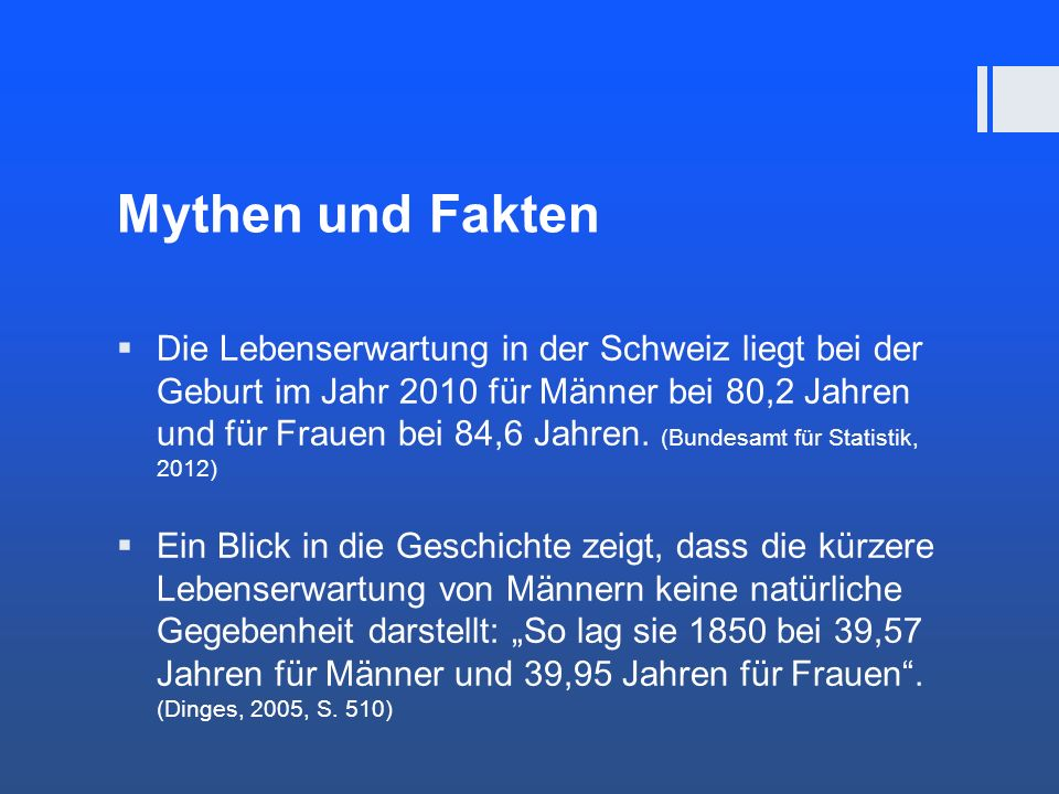 Mythen und Fakten