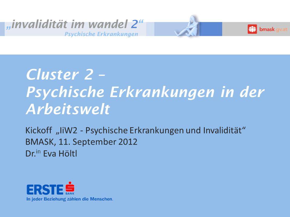 Cluster 2 – Psychische Erkrankungen in der Arbeitswelt