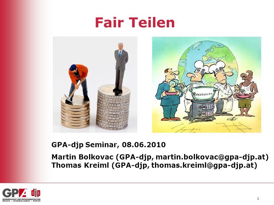 Fair Teilen GPA-djp Seminar, 08.06.2010