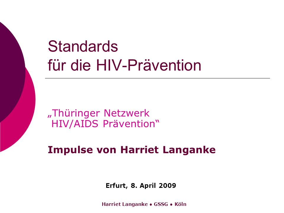 Standards für die HIV-Prävention