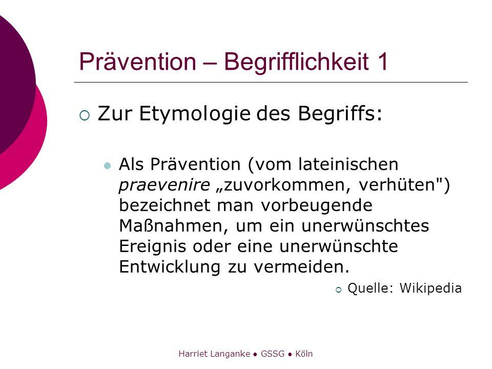 Prävention – Begrifflichkeit 1
