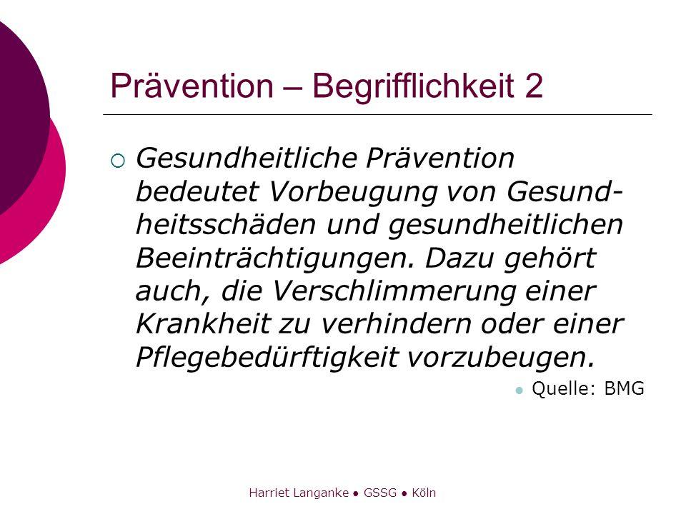 Prävention – Begrifflichkeit 2