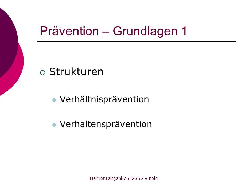 Prävention – Grundlagen 1