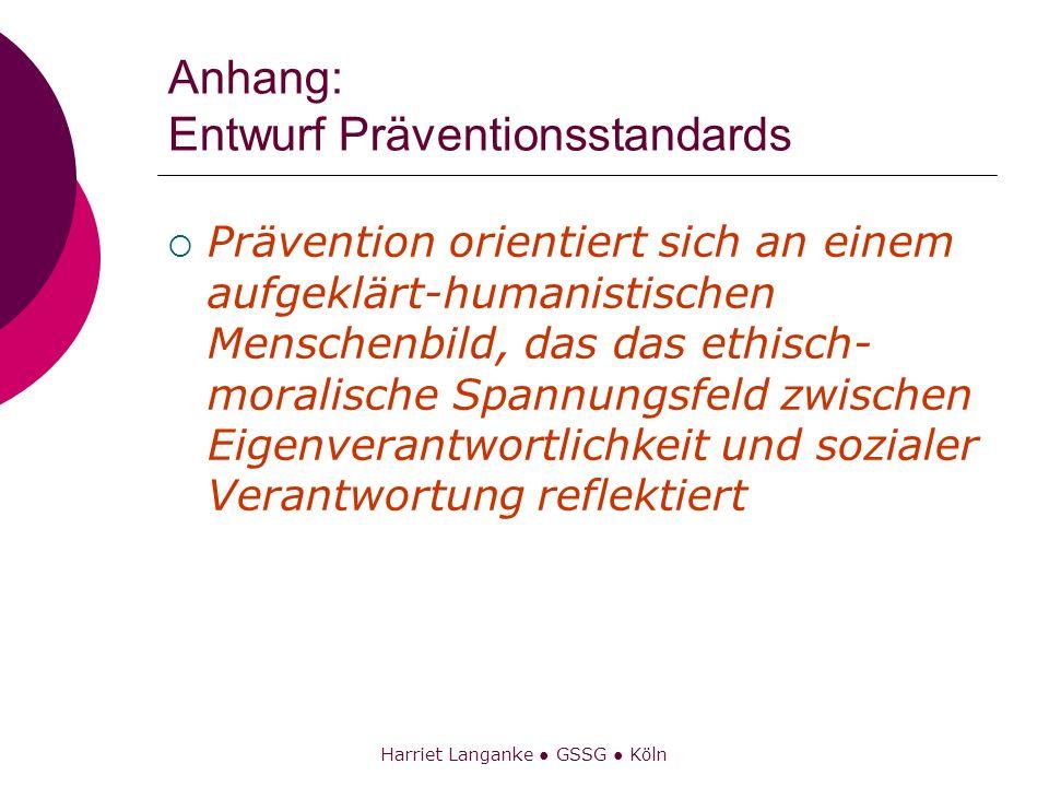 Anhang: Entwurf Präventionsstandards