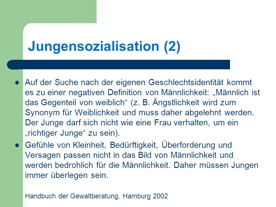 Jungensozialisation (2)