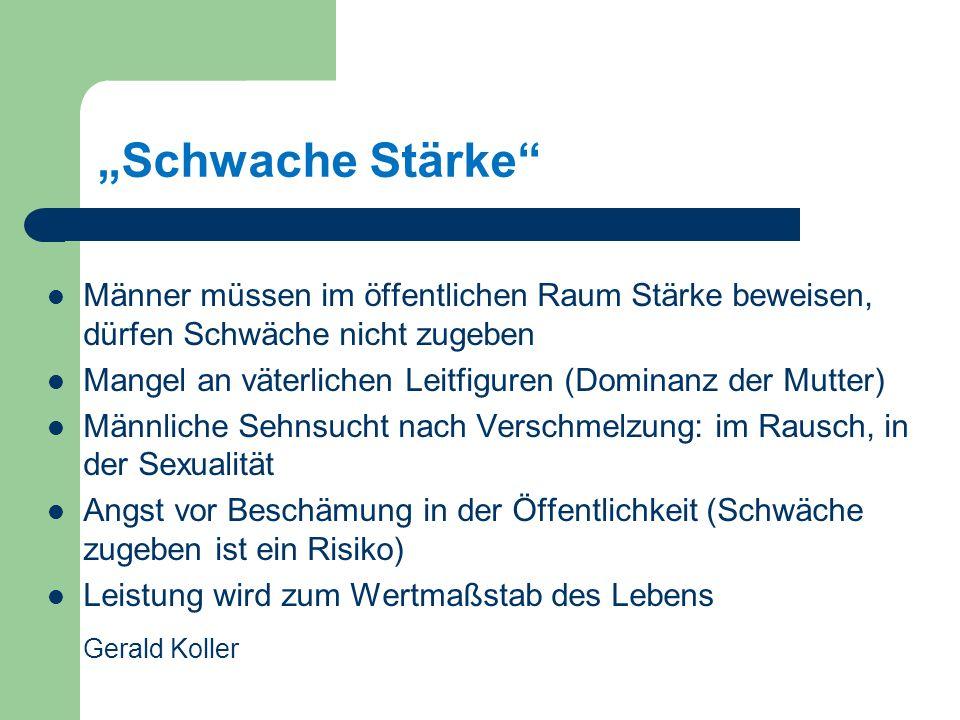 """Schwache Stärke Gerald Koller"