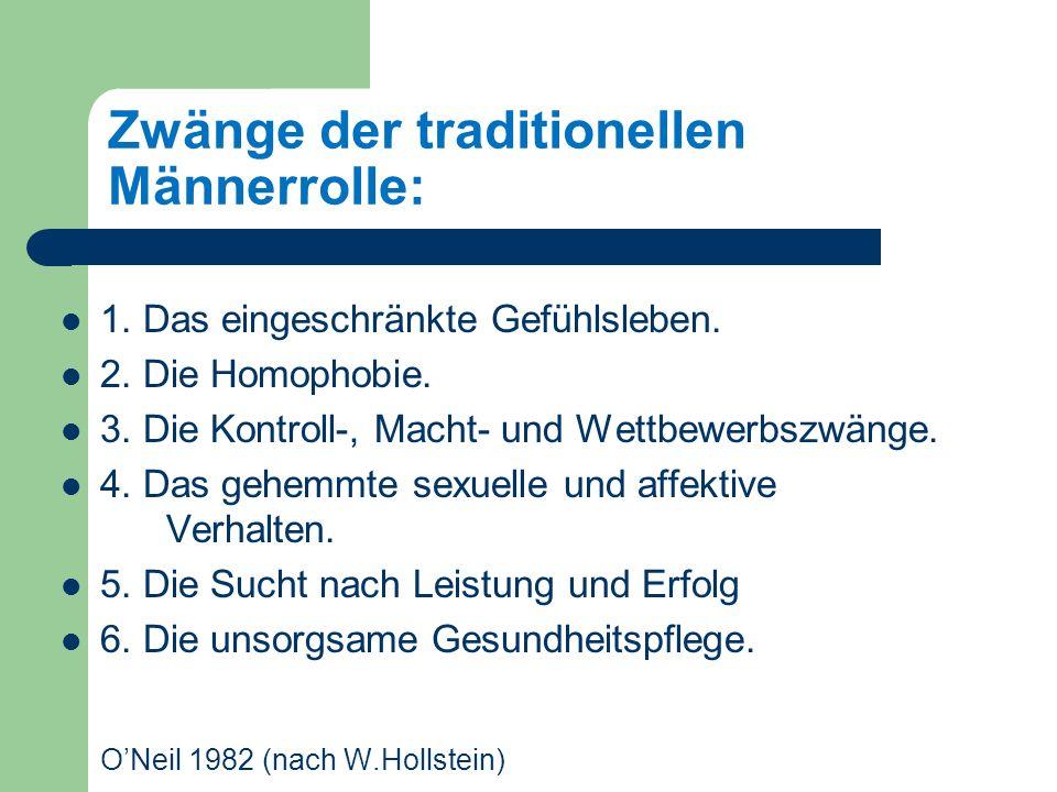 Zwänge der traditionellen Männerrolle: