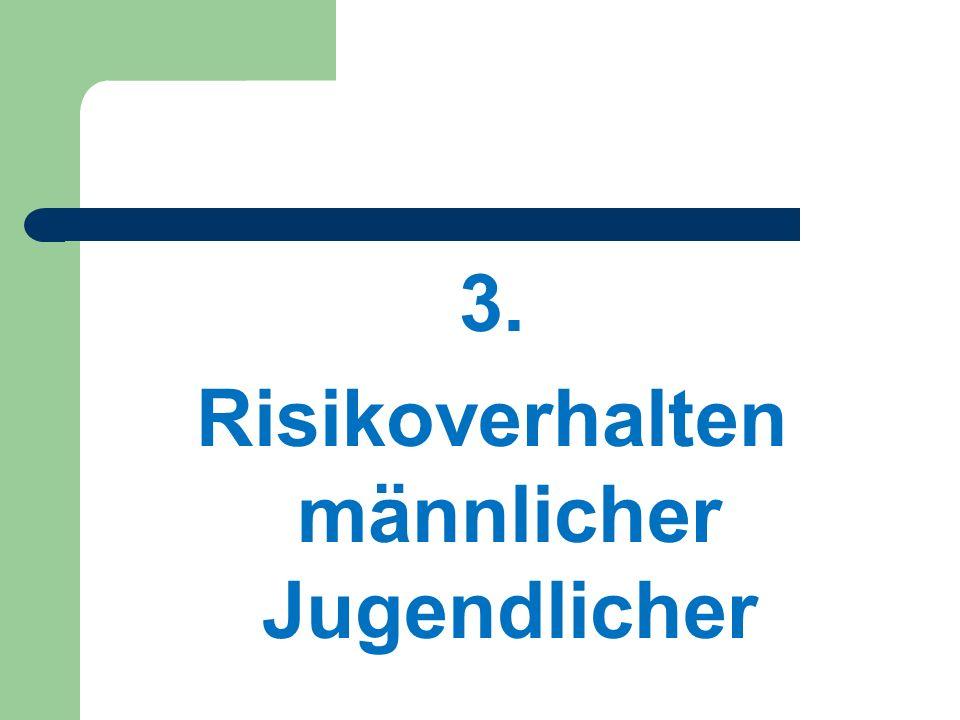 3. Risikoverhalten männlicher Jugendlicher