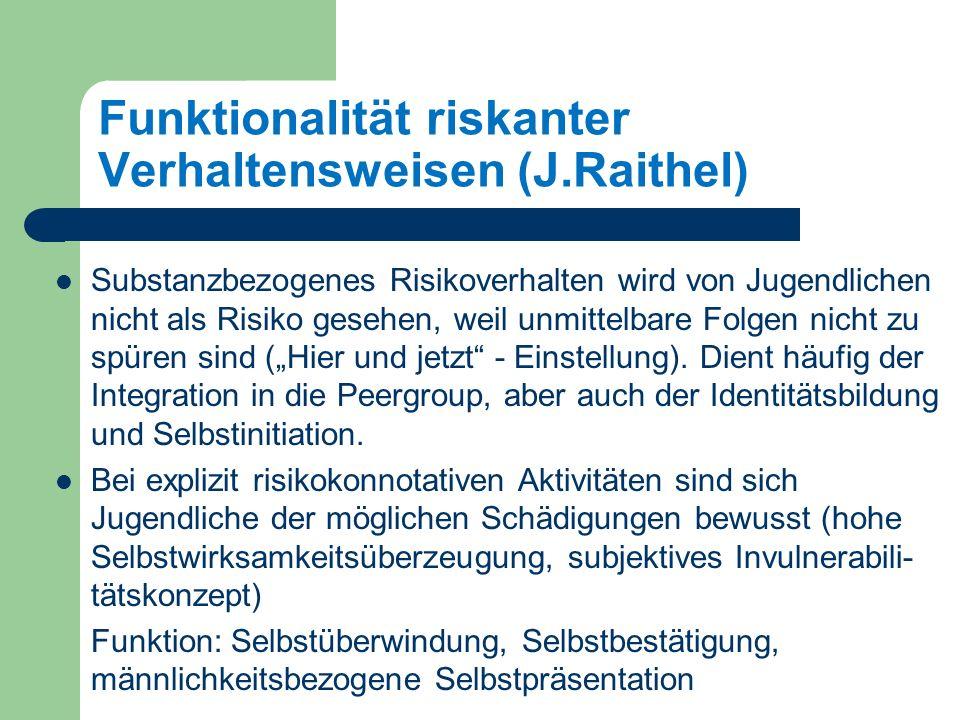 Funktionalität riskanter Verhaltensweisen (J.Raithel)