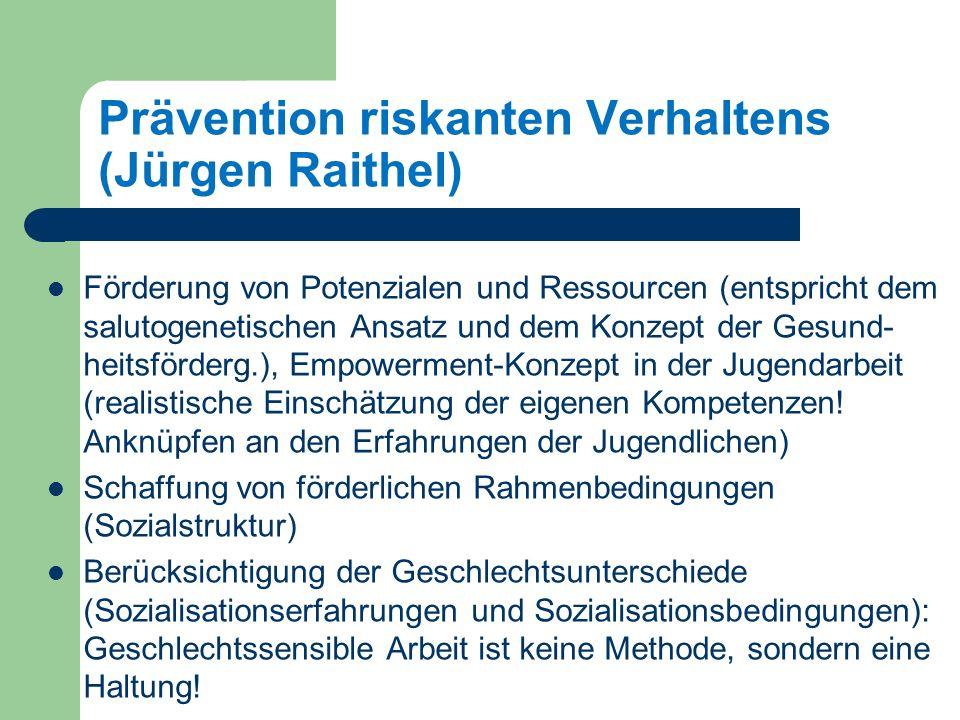 Prävention riskanten Verhaltens (Jürgen Raithel)