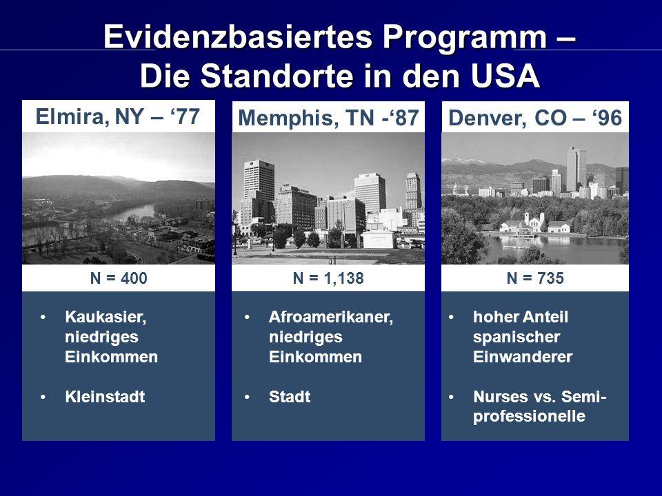 Evidenzbasiertes Programm – Die Standorte in den USA