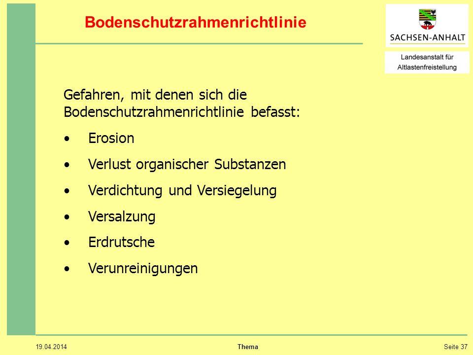Bodenschutzrahmenrichtlinie