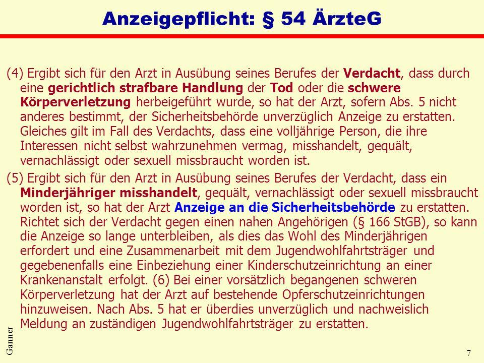 Anzeigepflicht: § 54 ÄrzteG