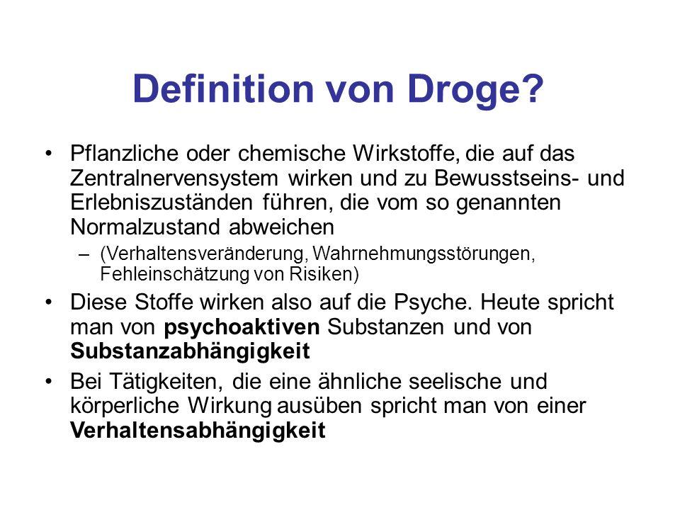 Definition von Droge