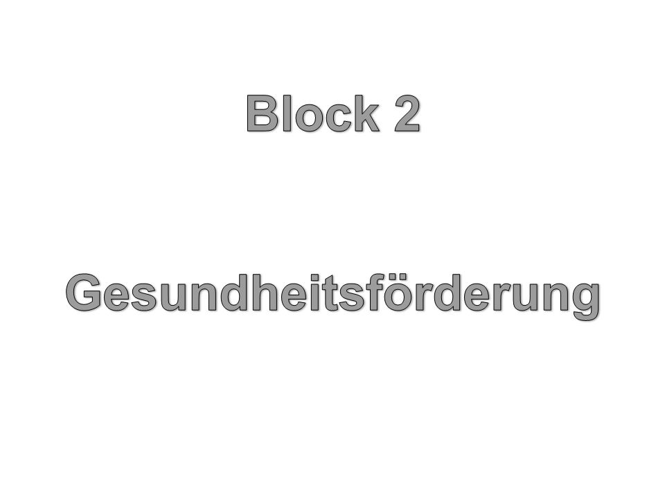 Block 2 Gesundheitsförderung