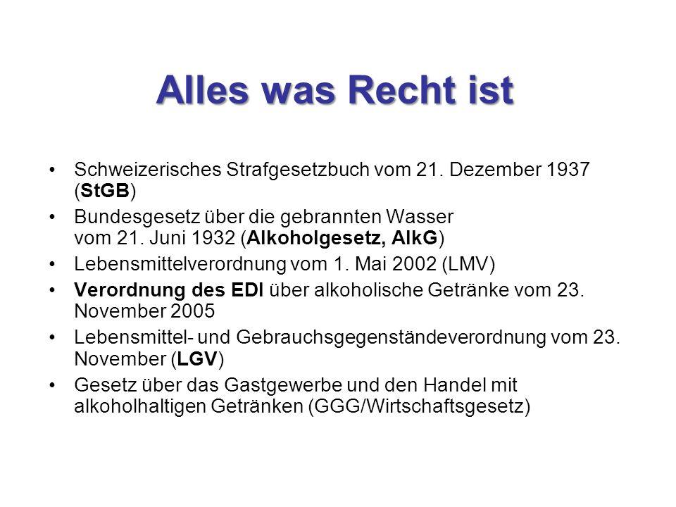 Alles was Recht ist Schweizerisches Strafgesetzbuch vom 21. Dezember 1937 (StGB)
