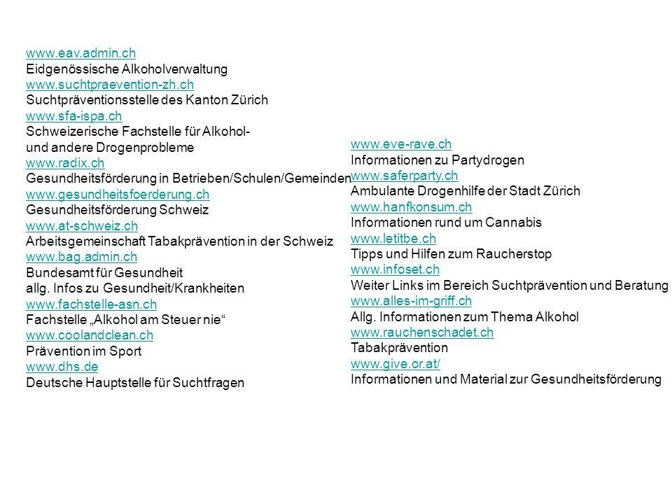 www.eav.admin.ch Eidgenössische Alkoholverwaltung