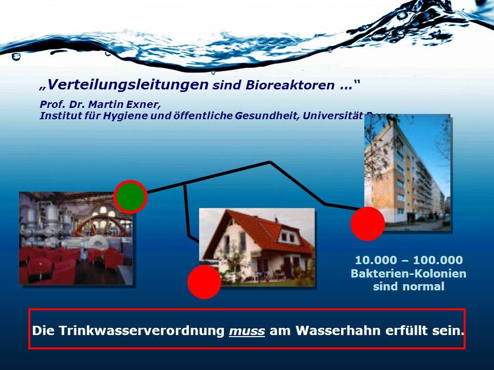 Die Trinkwasserverordnung muss am Wasserhahn erfüllt sein.
