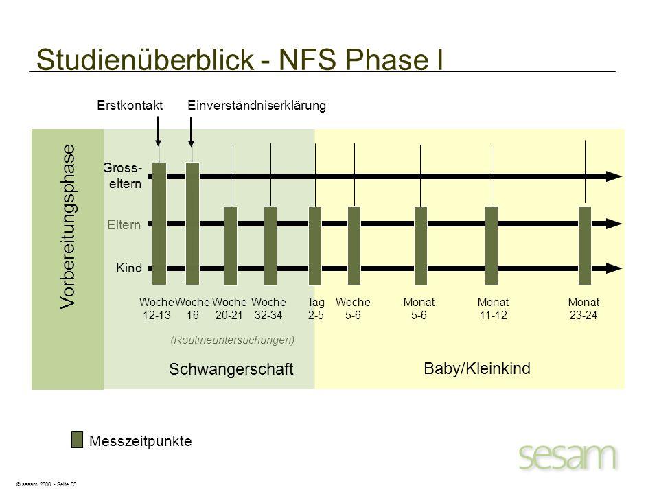 Studienüberblick - NFS Phase I