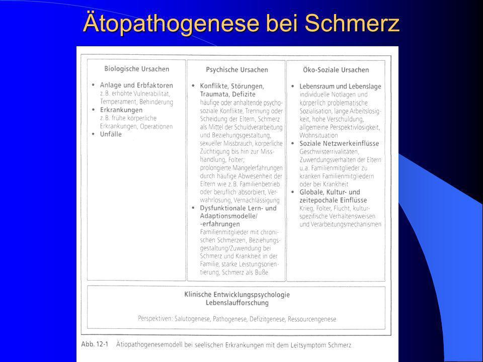 Ätopathogenese bei Schmerz