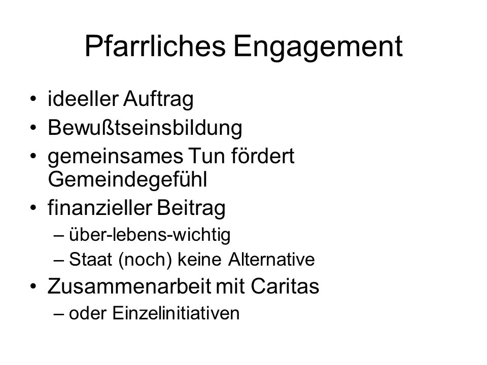 Pfarrliches Engagement