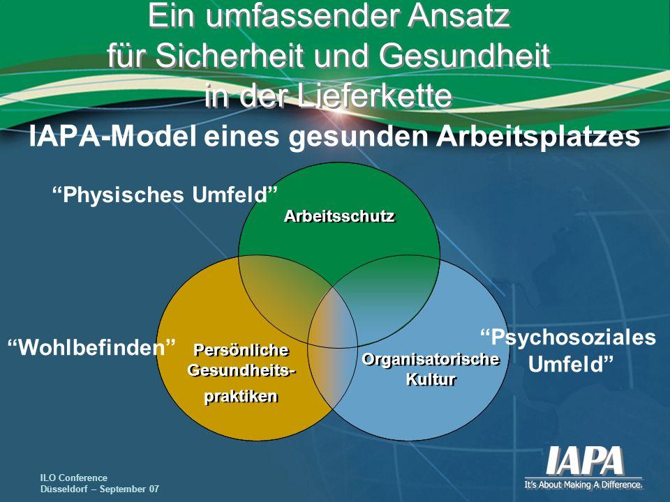 IAPA-Model eines gesunden Arbeitsplatzes